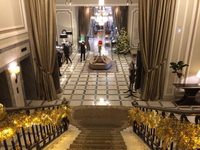 Lobby del hotel María Cristina en San Sebatián