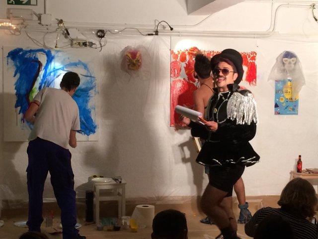Batalla del Arte entre semana durante los Artistas del Barrio 2018