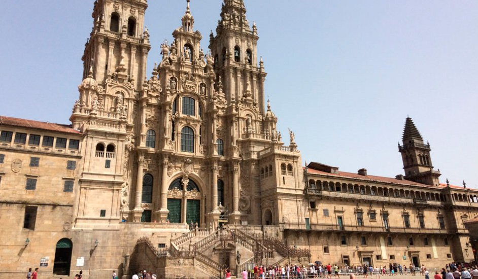 Plaza del Obradoiro y Catedral de Santiago de Compostela