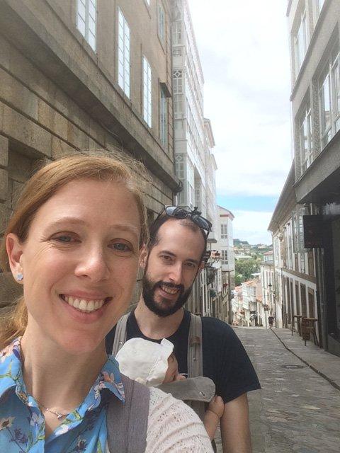 Las calles de Betanzos con Paula Pedro y Abby