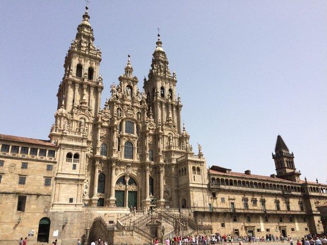 Praza da Obradoiro en Santiago de Compostela