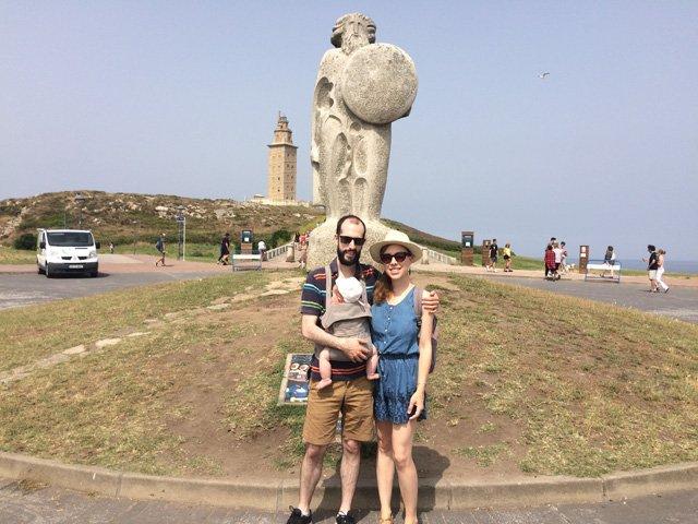 Pedro Abby y Paula en A Coruña