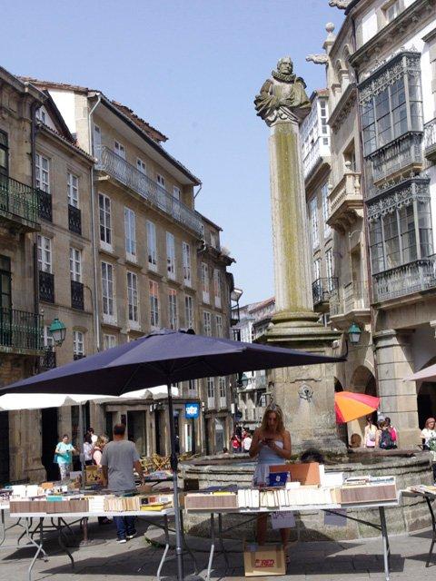 Plaza Cervantes en Santiago de Compostela Galicia