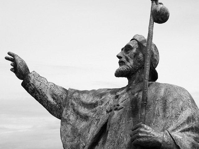 Estatua Monte do Gozo en Santiago de Compostela Galicia