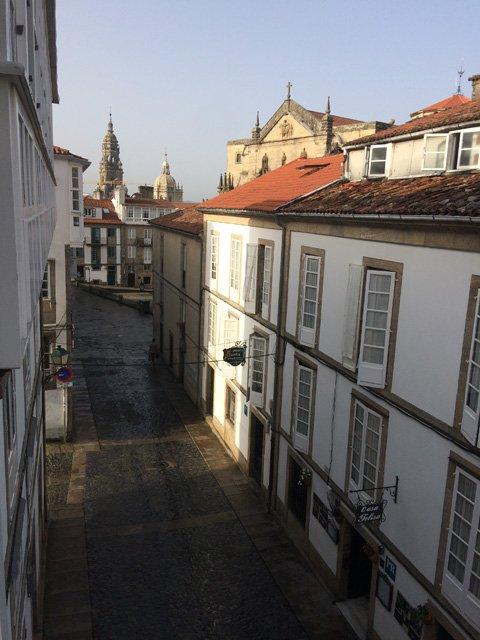 Vistas desde nuestra habitacion en Santiago de Compostela Galicia