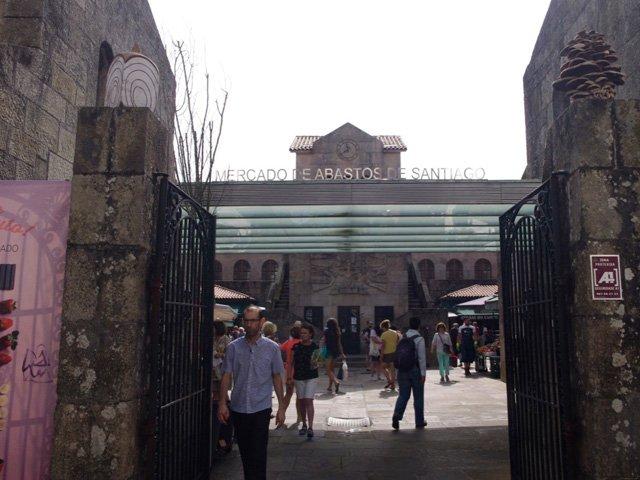 Mercado de Abastos en Santiago de Compostela Galicia