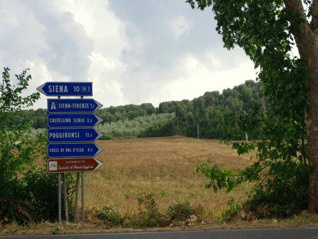 Carretera dirección Siena