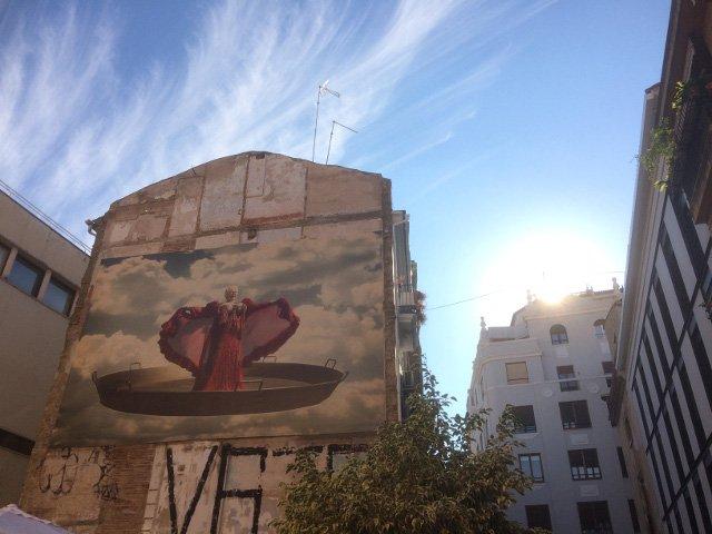 El arte callejero es algo curioso que ver en Valencia