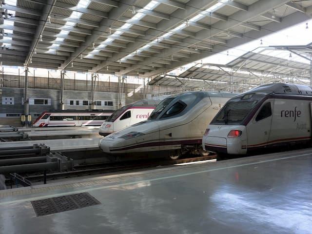 Llegando a Madrid en AVE