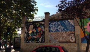 Tabacalera de Madrid with its murals