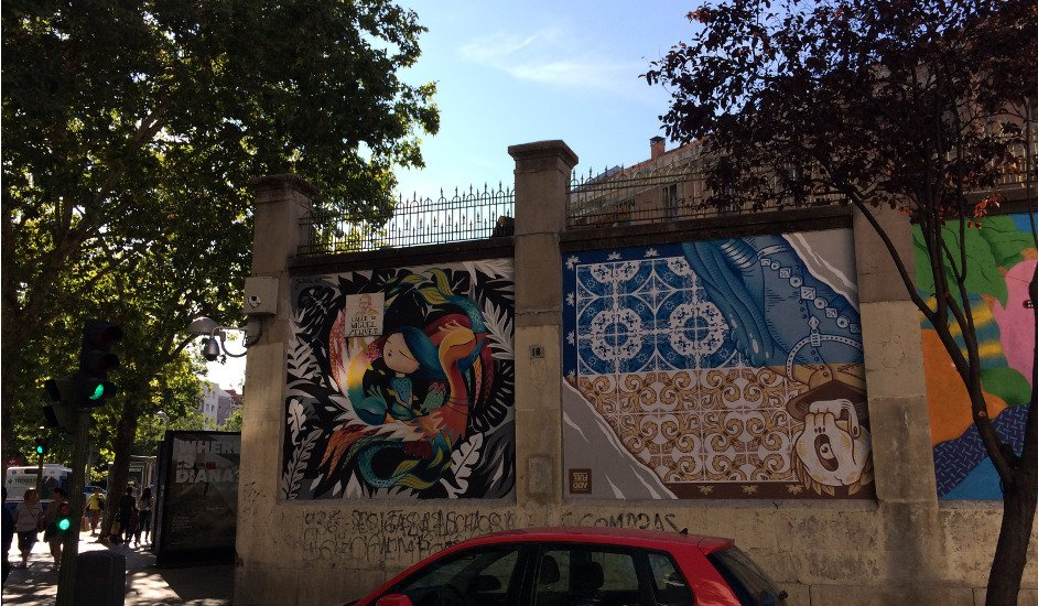 Tabacalera de Madrid with its murals