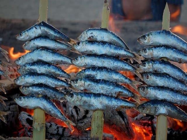 Espetos de sardina de Málaga