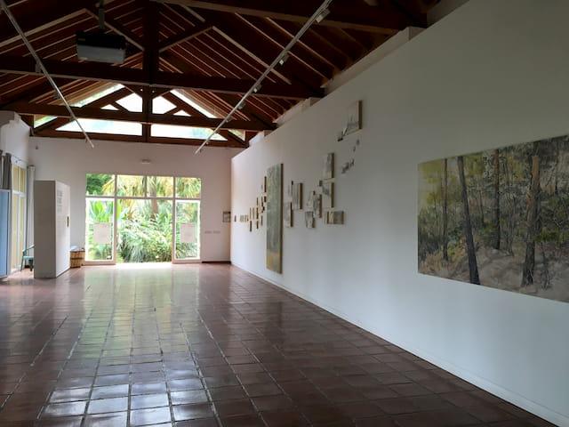 Salón de exposiciones de los Jardines Botánicos de Valencia