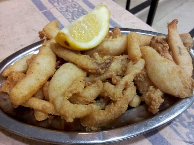 La fritura de pescado