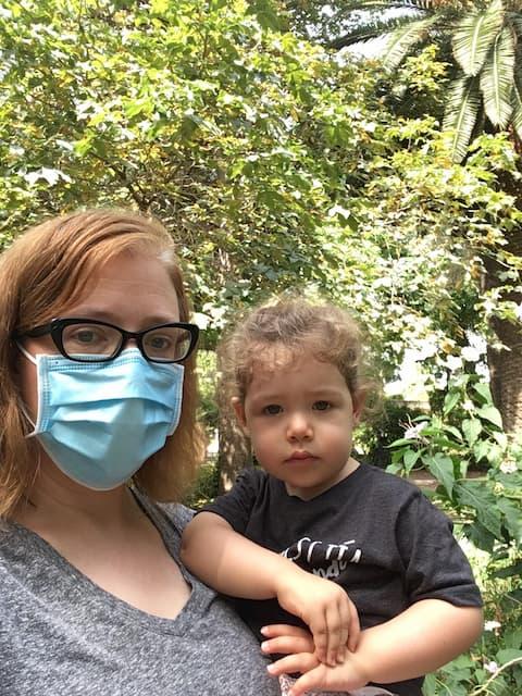 Abby y Paula en los Jardines Botánicos de Valencia