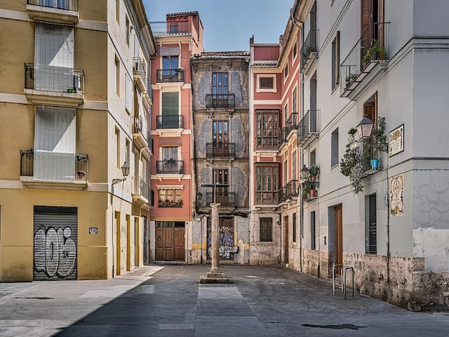 Calles del centro histórico de Valencia