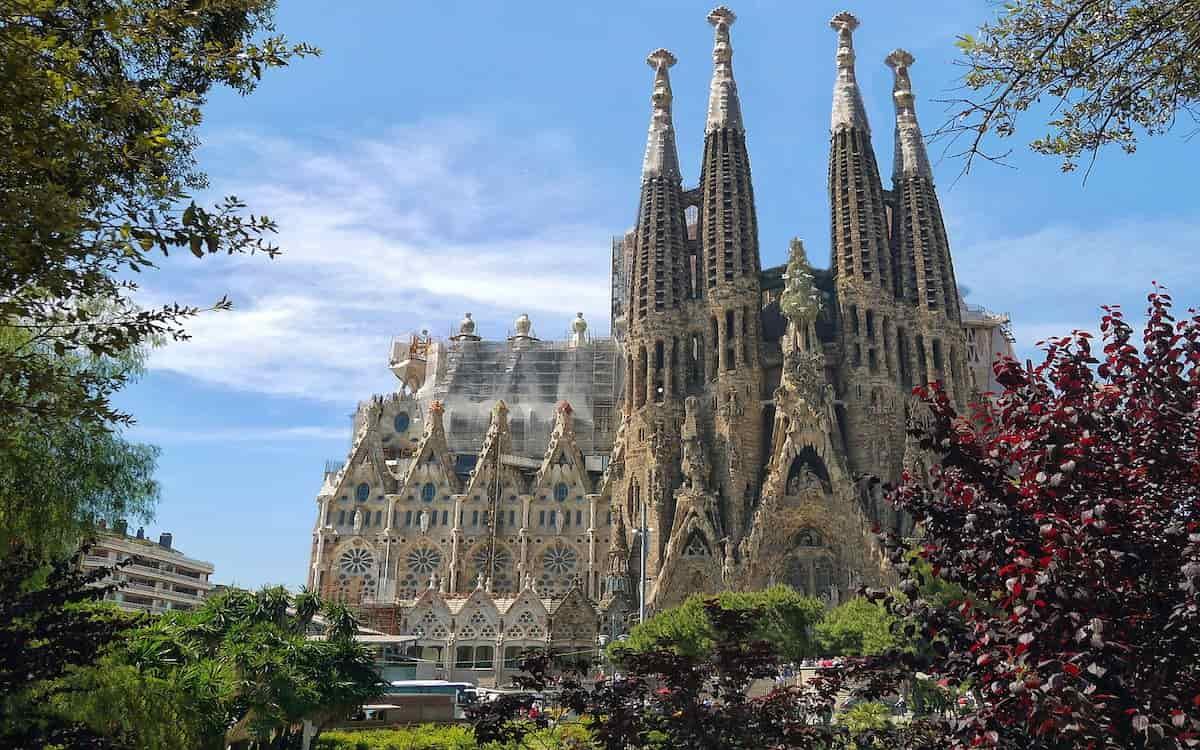 Sagrada Familia de Barcelona en Cataluña