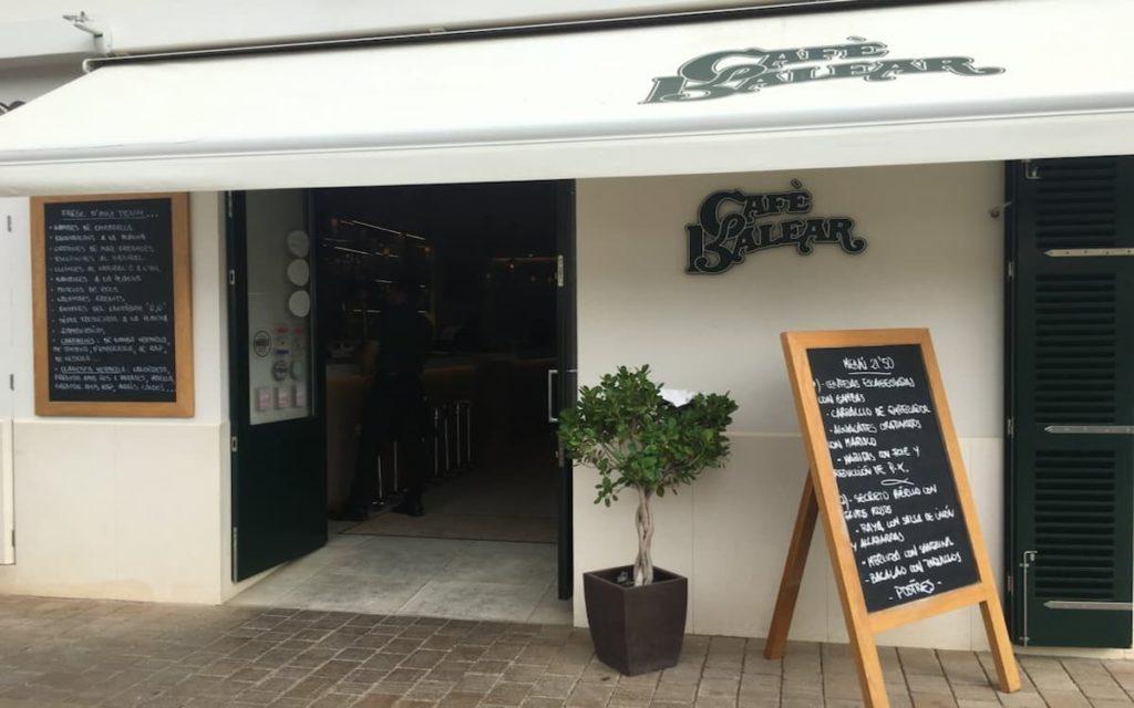 Café Balear, ideal para comer en Menorca
